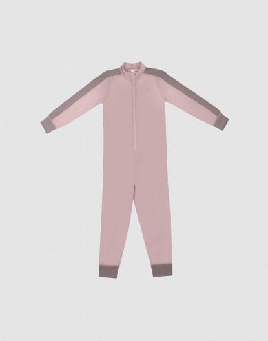 Jumpsuit voor kinderen - Exclusieve natuurlijke merinowol taupe