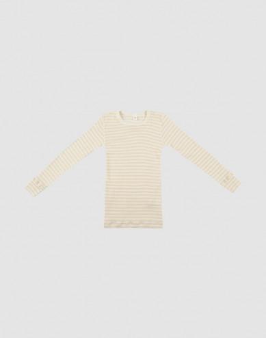 Kindertrui van biologische wol en zijde beige/natuur