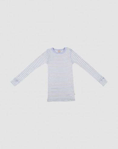 Merino wollen/zijden top met lange mouwen voor kinderen