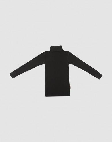 Coltrui van merino wol voor kinderen zwart