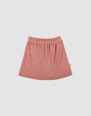 Merino wollen rok voor kinderen donker roze