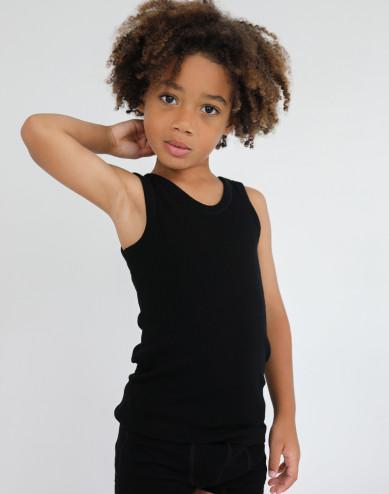 Kinderhemd - BIO merino wol zwart