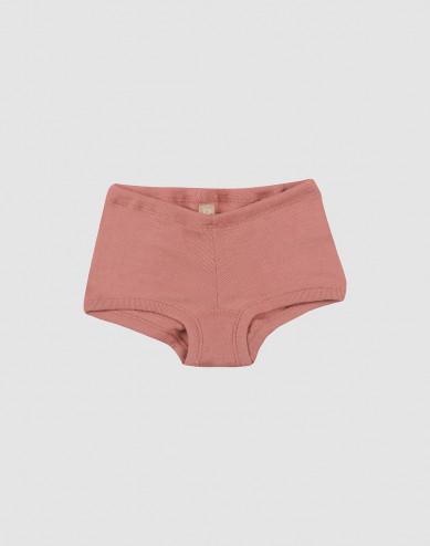 Meisjes hipster - bio merino wol donker roze