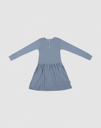 Wollen jurk voor kinderen blauw