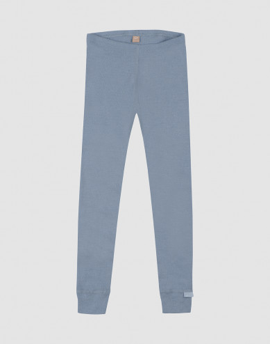 Kinder leggings - bio merinowol blauw