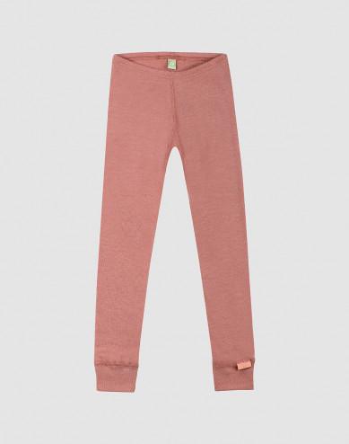 Kinder leggings - bio merinowol donker roze
