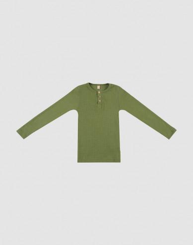 Merino wollen top met knopen voor kinderen