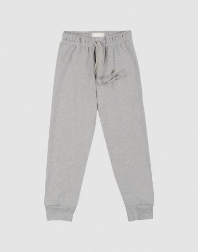 Pyjamabroek voor kinderen gemêleerd grijs