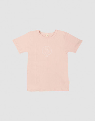 Kinder T-Shirt met print oudroze