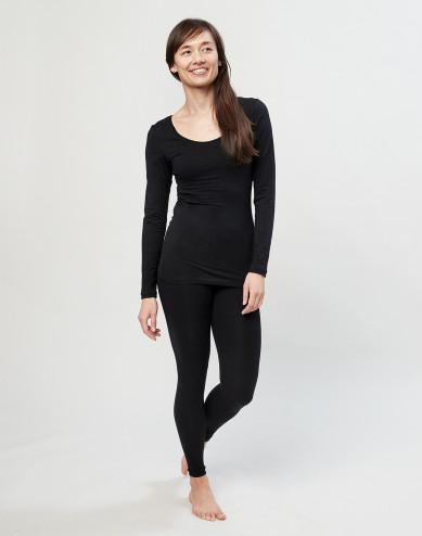 Dames legging katoen zwart
