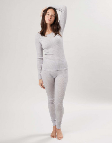 Legging van biologische merino wol voor dames
