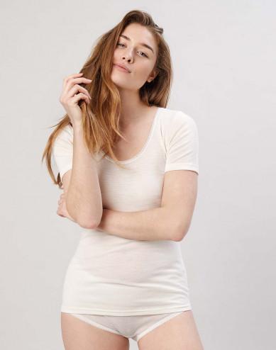 Merinos T-shirt voor dames natuur