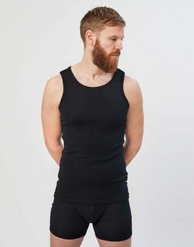 Merinos shirt voor heren zwart