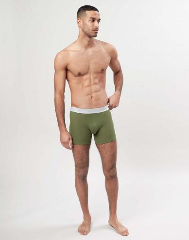Merino wollen boxershorts voor heren - avocadogroen