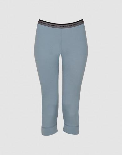 3/4 leggings voor vrouwen - exclusieve merinowol mineraalblauw
