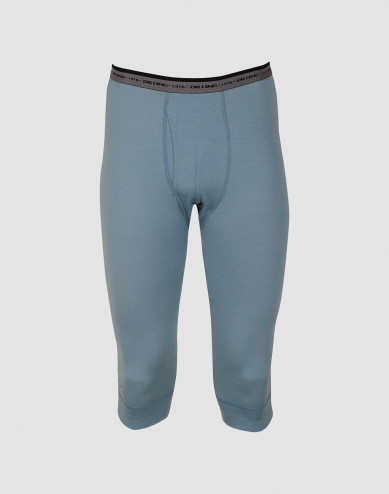 3/4 heren onderbroek - exclusieve merinowol mineraalblauw