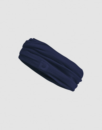 Heren colsjaal gemaakt van exclusief merinowol donkerblauw