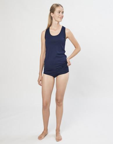 Dames hipster van exclusieve biologische merino wol marineblauw
