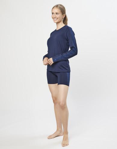 Dames shorts - exclusieve biologische merino wol donkerblauw