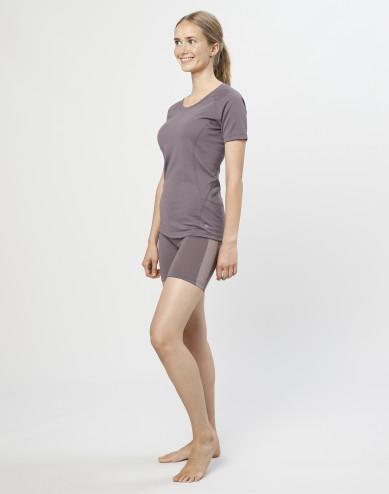 Dames shorts - exclusieve biologische merino wol lavendelgrijs