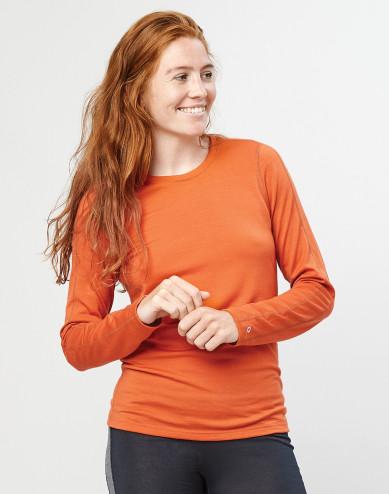 Damestrui - exclusieve biologische merino wol oranje