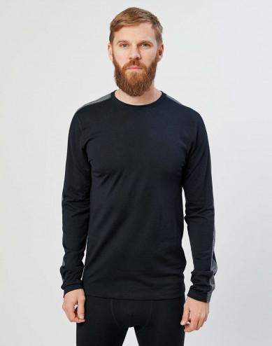 Heren trui van exclusieve biologische merino wol zwart