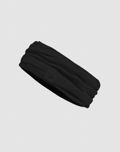 Colsjaal voor heren van natuurlijke exclusieve merino wol zwart